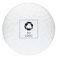 Pelota de golf blanca