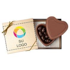 Caja en forma de corazón con bombones Premium - Paquete de 25 cajas