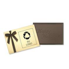 Barra de presentación de chocolate Happy Holidays - Paquete de 12 barras