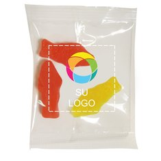 Paquete pequeño de dulces en forma de pez variados