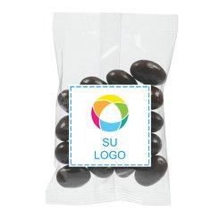 Bolsita de almendras cubiertas con chocolate amargo, 1 onza - Paquete de 250