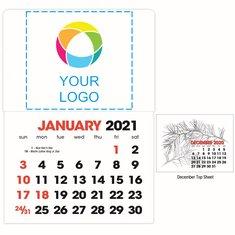BIC Graphic 2-Color Stick Up Grid Stick Calendar