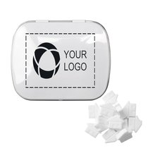 Rectangular Tin with House Shaped Mints, Case of 48