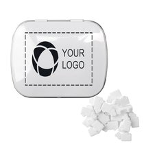 Rectangular Tin with Truck Shaped Mints, Case of 48