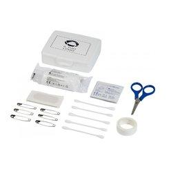 Kit di pronto soccorso da 24 pezzi con dischetti imbevuti di alcol e confezione di plastica Bullet™