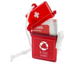 Kit di pronto soccorso da 11 pezzi con dischetti imbevuti di alcol Bullet™