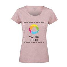T-shirt femme à col rond en coton biologique flammé Twoville de Harvest (transfert de couleurs)