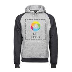 Tee Jays® tofarvet raglan-sweatshirt med hætte