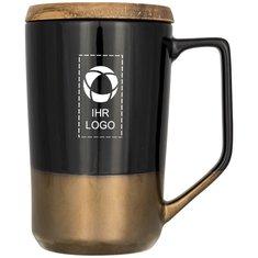 Keramiktasse Tahoe Tea and Coffee mit Deckel aus Holz von Avenue™