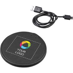 Avenue™ PU Wireless Charging Pad Full Colour Print