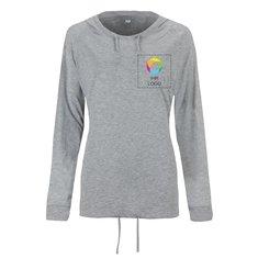 Damen-T-Shirt mit Kapuze in lockerer Passform von Mantis™