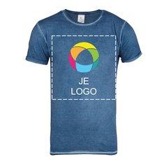 B&C™ Denim Plug In heren-T-shirt met korte mouwen