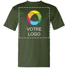 T-shirt à manches courtes fabriqué aux É.-U. Bayside