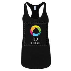 Camiseta sin mangas Alternative® con faldón para damas