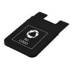 Cartera delgada de silicona de doble bolsillo para teléfono