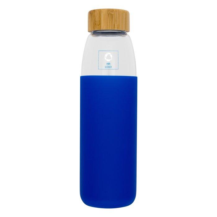 540-ml-Sportflasche Kai aus Glas mit Holzdeckel von Avenue™