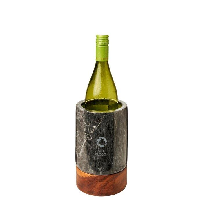 Enfriador de botellas de vino en madera y mármol Harlow de Avenue™.
