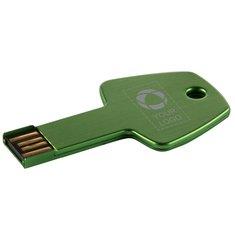 USB-Stick in Schlüsselform (4GB) mit Lasergravur