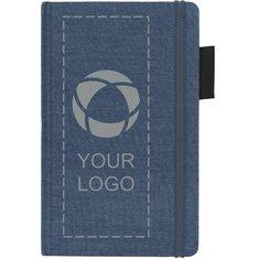 Libreta de tela vaquera de tamaño A5 de JournalBooks®