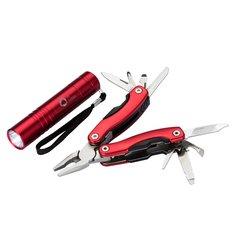 Bullet™ Scout lasergegraveerde cadeauset met multifunctioneel mes en zaklamp