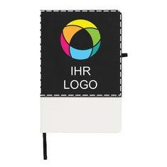 Zweifarbiges A5-Notizbuch Color Block von Bullet™ mit Vollfarbdruck