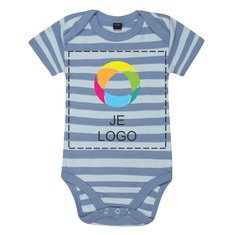 Mantis™ Gestreepte Bodysuit met Korte Mouw voor Baby's