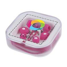 Gekleurde oordopjes met full-colour drukwerk