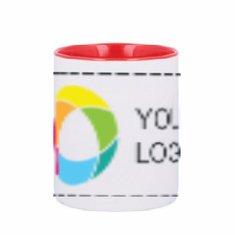 Sublim Red Ceramic Heart Mug 300ml Full Colour Print