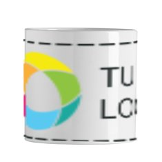 Taza de cerámica de 200 ml Mini Sublim con estampado a todo color