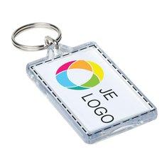 Heropenbare sleutelhanger met insert in full-colour