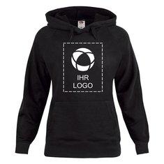 Kapuzensweatshirt Lady-Fit Lightweight von Fruit of the Loom® mit einfarbigem Druck