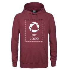 Sweatshirt med hætte fra Fruit of the Loom® med enkeltfarvetryk