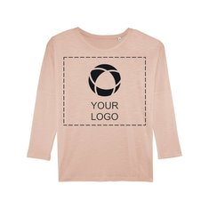 Stella Turns Slub Women's Long Sleeve Dropped Shoulder T-Shirt Single Colour Print