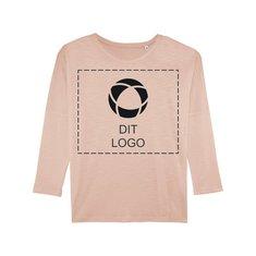 Stella Turns langærmet T-shirt til damer med udringer skulder og enkeltfarvetryk