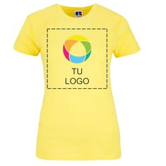 Camiseta entallada para mujer de 100% algodón hilado en anillo de Russell™