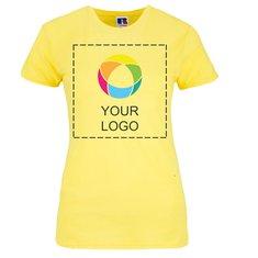 T-shirt slim femme maille piquée 100% coton filé à l'anneau de Russell™
