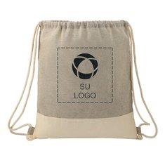 Bolsa reciclada de algodón Split con cordón de cierre