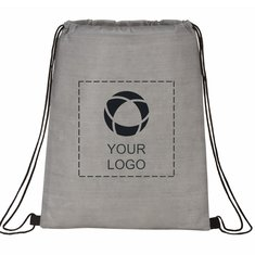 Bullet Graphite Non-Woven Drawstring Bag