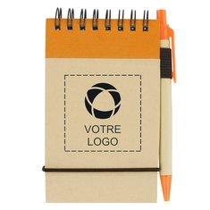 Bloc-notes recyclé avec stylo