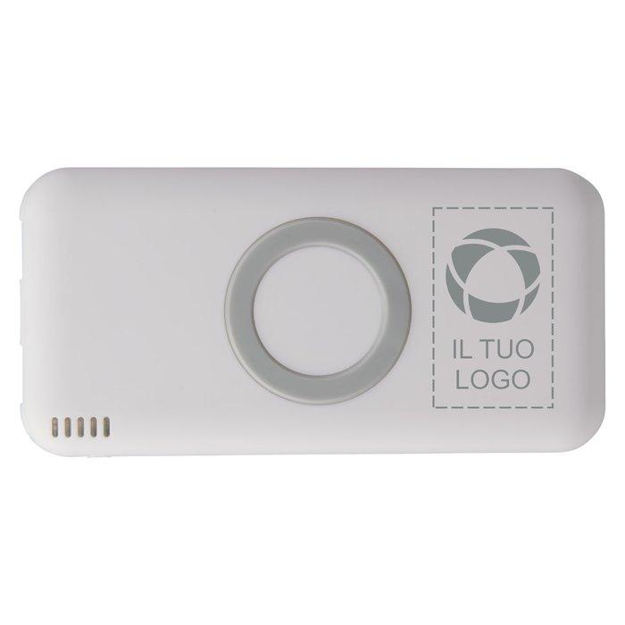 Caricabatterie portatile senza fili da 6000 mAh Coma Avenue™ con incisione laser