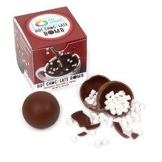 Bomba de chocolate caliente en caja de regalo con impresión a todo color