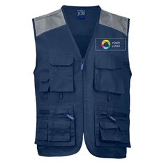 Projob Contrasted Shoulders Fisherman Vest