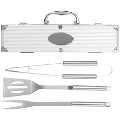 Set per barbecue con incisione a laser (3 pezzi)