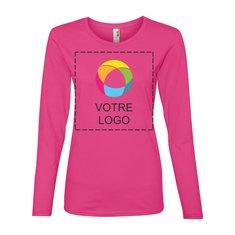 T-shirt léger manches longues coton filé femme AnvilMD