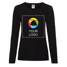 Fruit of the Loom® Lady-Fit Valueweight Long Sleeve T-shirt with Full Front Ink Print