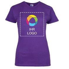 Damen-T-Shirt Slim von Russell™ aus 100% ringgesponnener Baumwolle mit Tintendruck