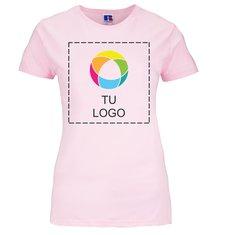 Camiseta ceñida de 100 % algodón hilado en anillo para estampado en tinta de Russell™