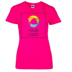 Russell™ 100% Ring-Spun Cotton Ink Printed Ladies' Slim T-Shirt