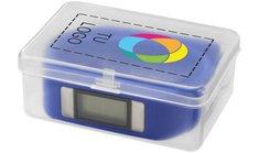 Reloj deportivo con podómetro y estampado a todo color Get-Fitter de Bullet™