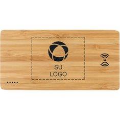 Batería externa inalámbrica Plank de bambú de 5000 mAh
